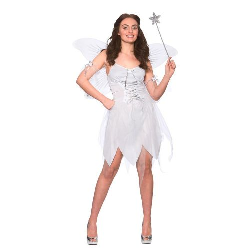 Ladies Good Fairy Costume for Make-Believe Fairytale Pan Tinkerbell Fancy Dress